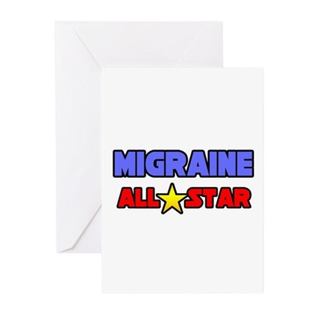 """""""Migraine All Star"""" Greeting Cards (Pk of 10)"""