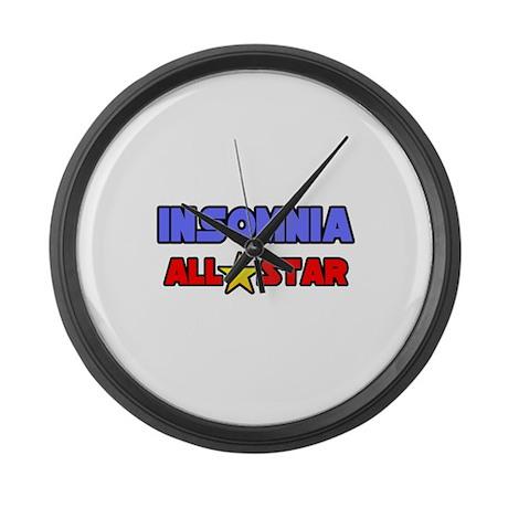 """Insomnia All Star"" Large Wall Clock"