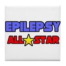 """Epilepsy All Star"" Tile Coaster"