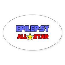 """Epilepsy All Star"" Oval Decal"