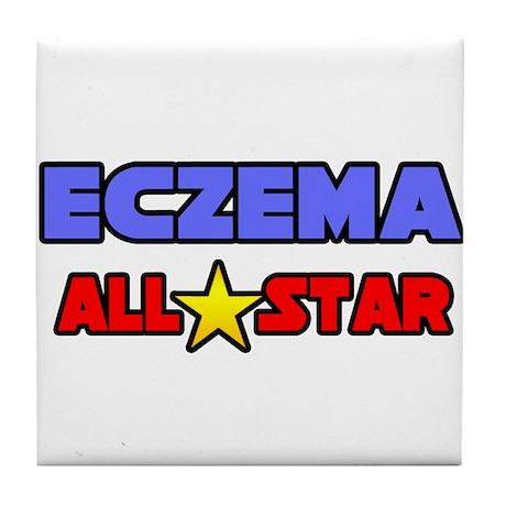 """Eczema All Star"" Tile Coaster"