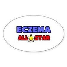"""Eczema All Star"" Oval Decal"
