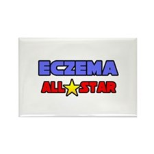 """Eczema All Star"" Rectangle Magnet"