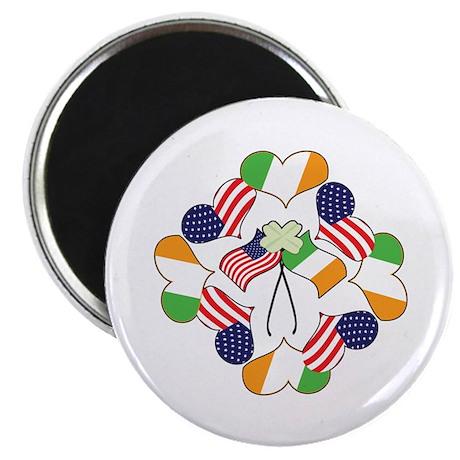 """Patriotic Irish American 2.25"""" Magnet (100 pack)"""