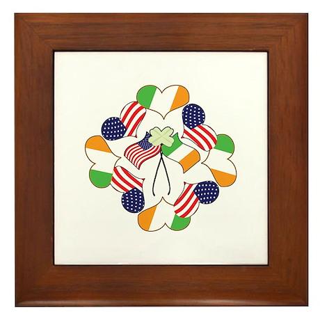 Patriotic Irish American Framed Tile