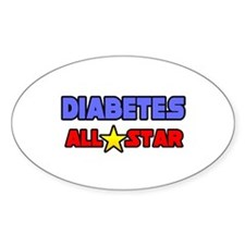 """""""Diabetes All Star"""" Oval Decal"""