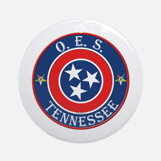 Tennessee OES Ornament (Round)