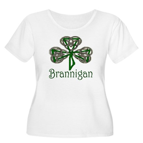 Brannigan Shamrock Women's Plus Size Scoop Neck T-