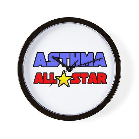 """""""Asthma All Star"""" Wall Clock"""