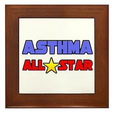 """""""Asthma All Star"""" Framed Tile"""