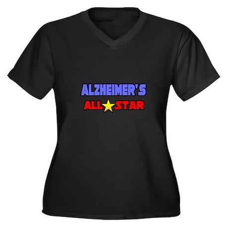 """Alzheimer's All Star"" Women's Plus Size V-Neck Da"