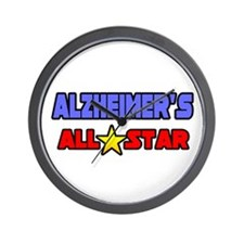 """Alzheimer's All Star"" Wall Clock"
