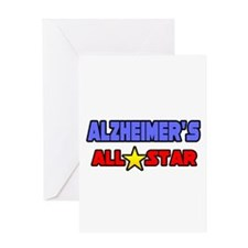 """Alzheimer's All Star"" Greeting Card"