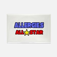 """""""Allergies All Star"""" Rectangle Magnet"""