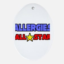 """Allergies All Star"" Oval Ornament"