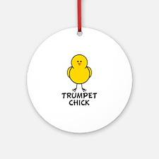 Trumpet Chick Ornament (Round)