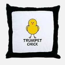 Trumpet Chick Throw Pillow