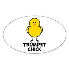 Trumpet Chick Oval Decal