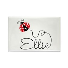 Ladybug Ellie Rectangle Magnet