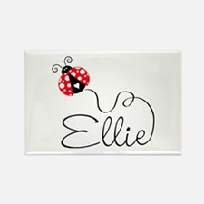 Ladybug Ellie Rectangle Magnet