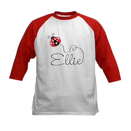 Ladybug Ellie Kids Baseball Jersey