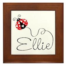 Ladybug Ellie Framed Tile