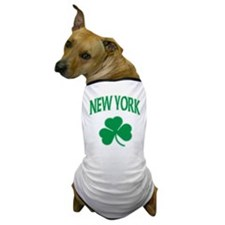 New York Irish Shamrock Dog T-Shirt