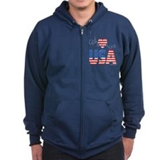 God Bless the USA Zip Hoodie