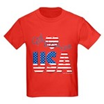 God Bless the USA Kids Dark T-Shirt