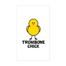 Trombone Chick Rectangle Decal