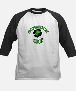 Green Schmuck Luck Kids Baseball Jersey