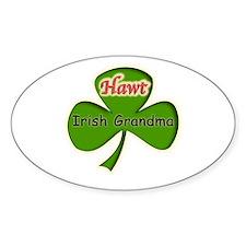Hawt Irish Grandma Oval Decal