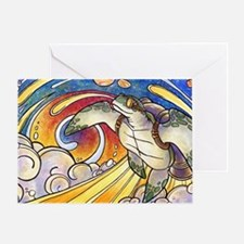 Space Turtle Surfs the Cosmos Greeting Card