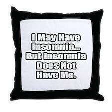 """Insomnia Inspiration"" Throw Pillow"