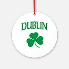 Dublin Irish Shamrock Ornament (Round)