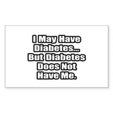 """""""Diabetes Fighter Quote"""" Rectangle Decal"""