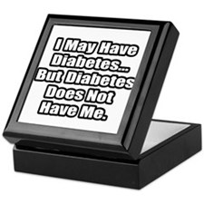 """Diabetes Fighter Quote"" Keepsake Box"