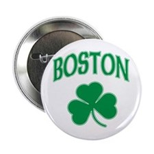 "Boston Irish Shamrock 2.25"" Button"