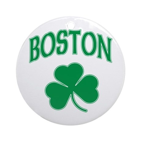 Boston Irish Shamrock Ornament (Round)