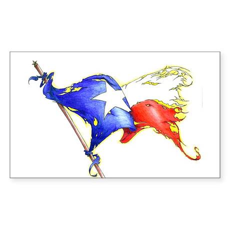 Texas Battle Flag Rectangle Sticker