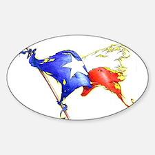 Texas Battle Flag Oval Decal