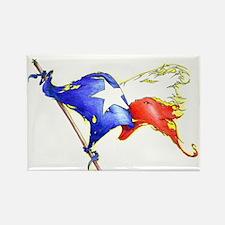 Texas Battle Flag Rectangle Magnet