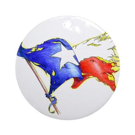 Texas Battle Flag Ornament (Round)