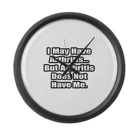 """""""Arthritis Fighter Quote"""" Large Wall Clock"""