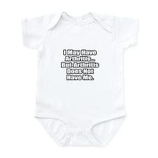 """""""Arthritis Fighter Quote"""" Infant Bodysuit"""