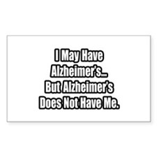 """""""Alzheimer's Fighter Quote"""" Rectangle Decal"""