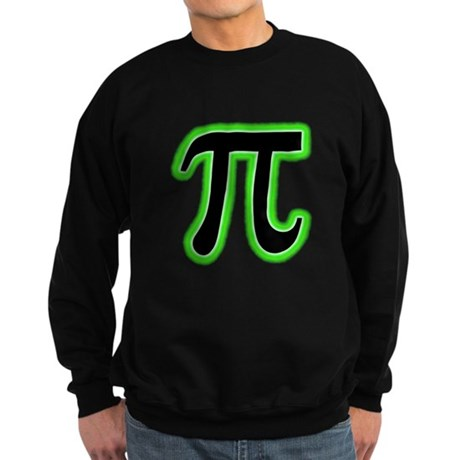 Pi (green glow) Sweatshirt (dark)