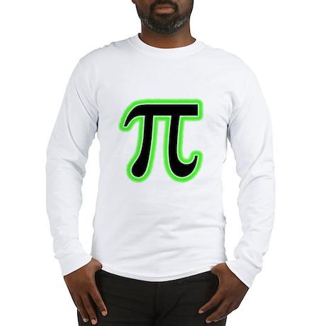 Pi (green glow) Long Sleeve T-Shirt