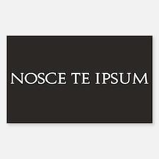 Nosce Te Ipsum Rectangle Decal