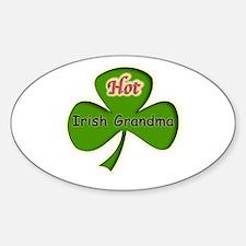 Hot Irish Grandma Oval Decal